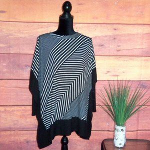 Robert Louis Oversized Striped Poncho Top - S -NWT
